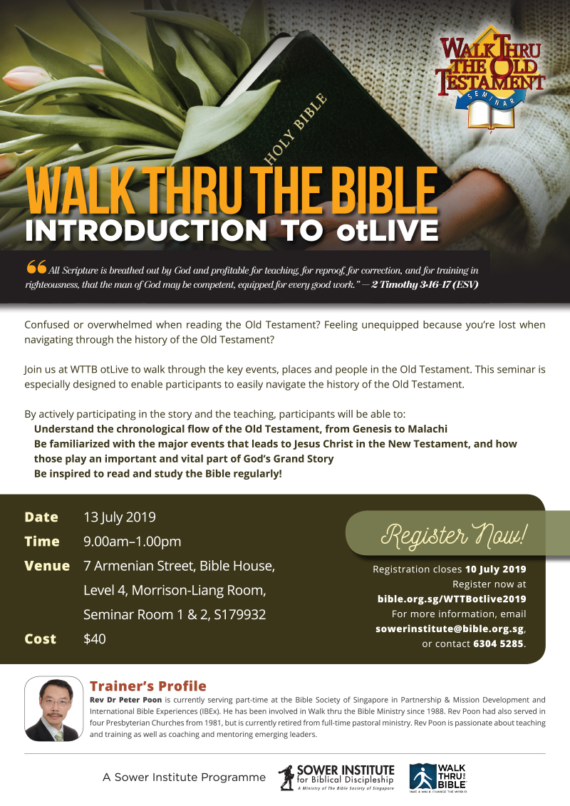 Walk Thru the Bible OT Live | Bible Society of Singapore