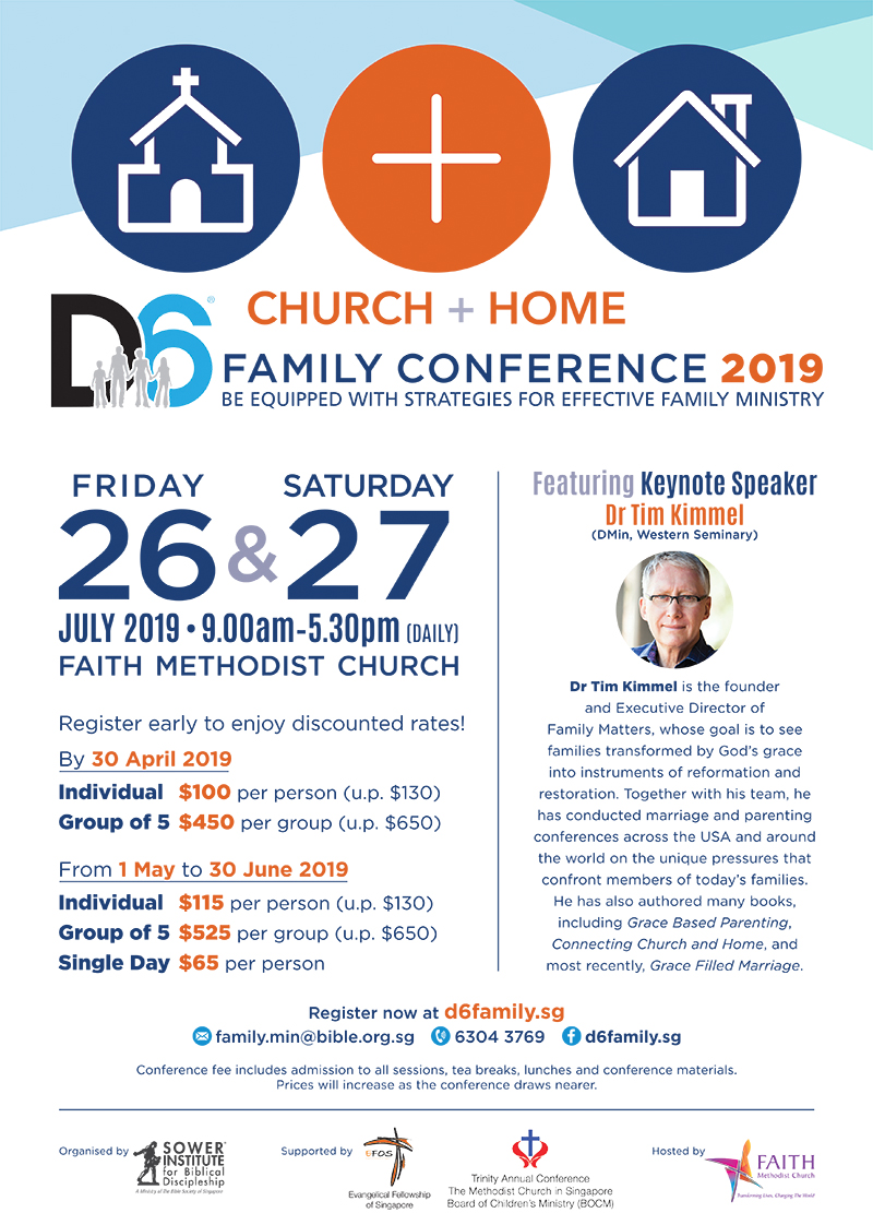 D6 Family Conference 2019: Church + Home – Individual Registration