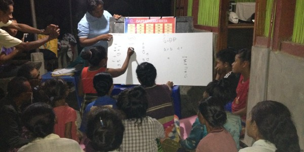 literacy programme in tribal Indonesia