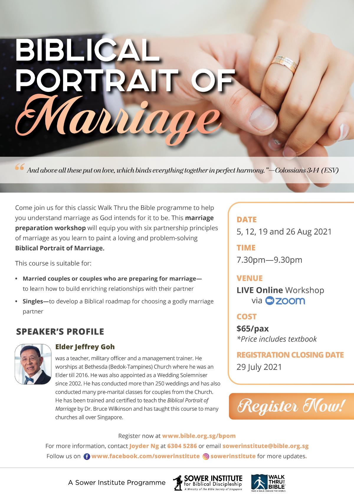 Biblical Portrait of Marriage